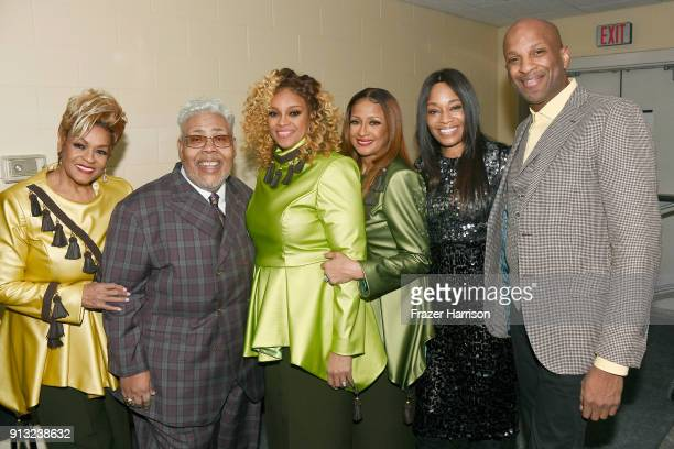Jacky ClarkChisholm Honoree Pastor Rance Allen Dorinda ClarkCole Karen Clark Sheard EVP Head of Programming at BET Connie Orlando and Donnie...