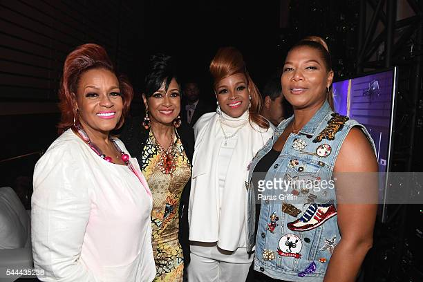 Jacky Cullum Chisholm Dorinda ClarkCole Karen Clark Sheard and Queen Latifah backstage at the 2016 ESSENCE Festival Presented By CocaCola at Ernest N...