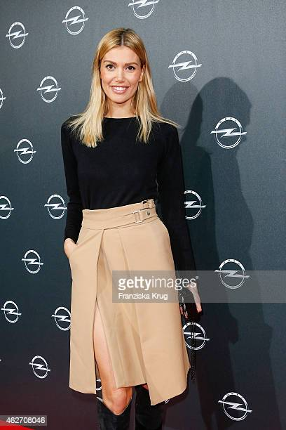 Jacky Hide attends the 'Corsa Karl Und Choupette' Vernissage on February 03 2015 in Berlin Germany