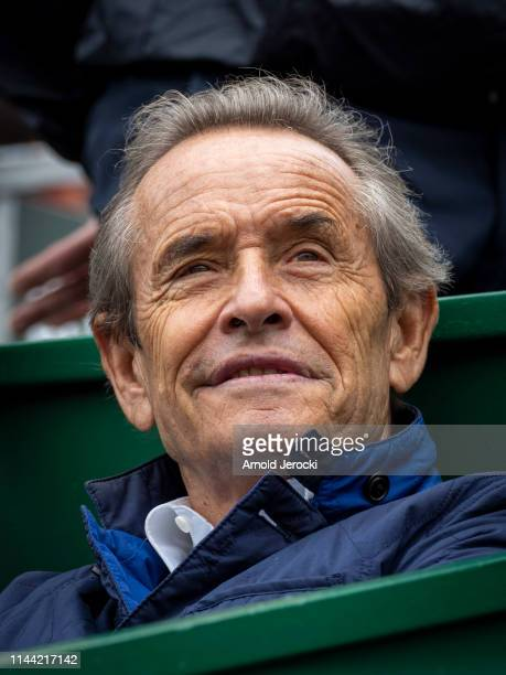 Jacky Ickx attends the Rolex MonteCarlo Masters at MonteCarlo Country Club on April 21 2019 in MonteCarlo Monaco