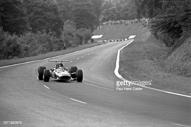 Jacky Ickx Ferrari 312 Grand Prix of France RouenLesEssarts 07 July 1968 Jacky Ickx on the way to his first Formula One Grand Prix victory in the...