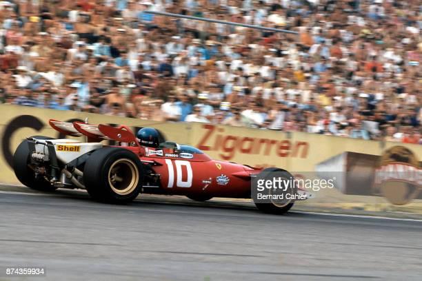 Jacky Ickx, Ferrari 312B, Grand Prix of Germany, Hockenheimring, 02 August 1970.