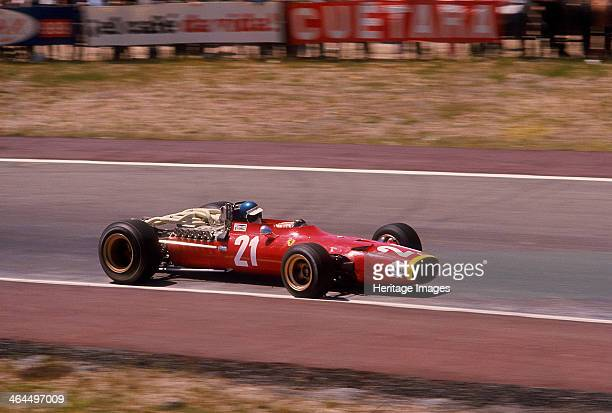 Jacky Ickx in a Ferrari Spanish Grand Prix Jarama Madrid 1968 His race only lasted 13 laps due to an ignition problem As well as being the winner of...