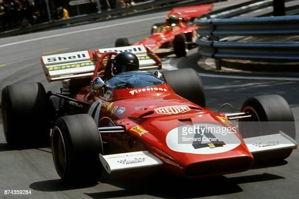 Jacky Ickx, Reine Wisell, Ferrari 312B, Lotus-Ford 72C, Grand Prix of Spain, Montjuic circuit, Barcelona, 18 April 1971.