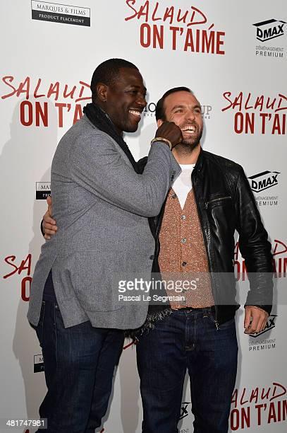 Jacky Ido and Le Comte de Bouderbala attend 'Salaud On T'Aime' Paris Premiere at Cinema UGC Normandie on March 31 2014 in Paris France