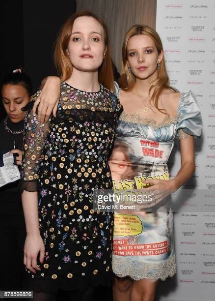 Jaclyn Bethany Greta Bellamacina attend a screening of short films 'Indigo Valley' and 'The Last Birthday' at Shortwave Cinema on November 24 2017 in...