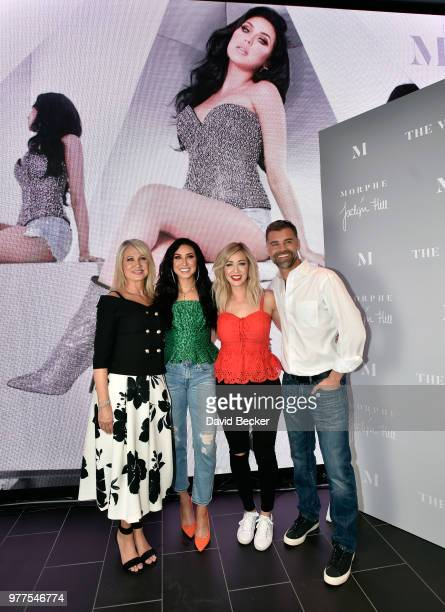 Jaclyn Hill and guests attend the Morphe store opening at the Miracle Mile Shops at Planet Hollywood Resort Casino on June 16 2018 in Las Vegas Nevada