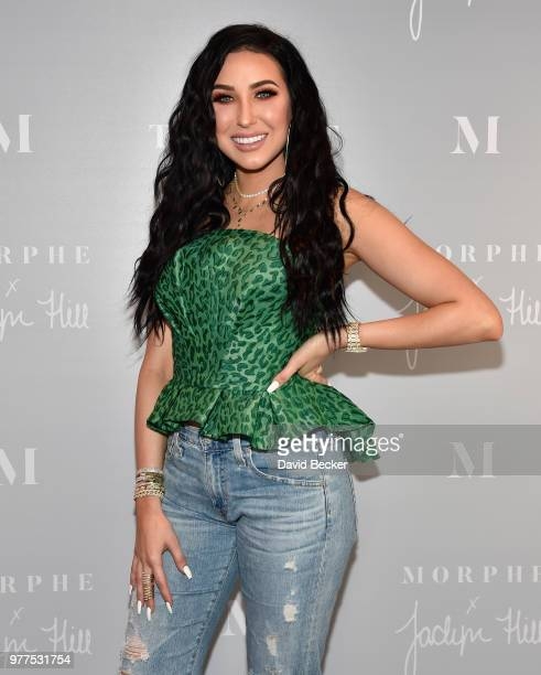 Jaclyn Hill attends the Morphe store opening at the Miracle Mile Shops at Planet Hollywood Resort Casino on June 16 2018 in Las Vegas Nevada