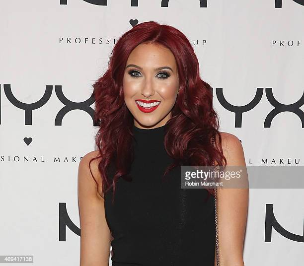 Jaclyn Hill attends the NYX VIP Dine Unwind at Hudson Terrace on April 11 2015 in New York City