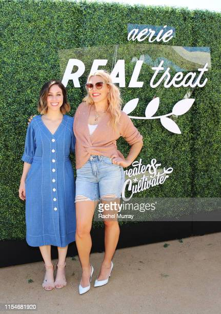 Jaclyn Johnson and Busy Philipps attend Aerie REALTreat in Collaboration with Create & Cultivate on June 08, 2019 in Los Angeles, California.