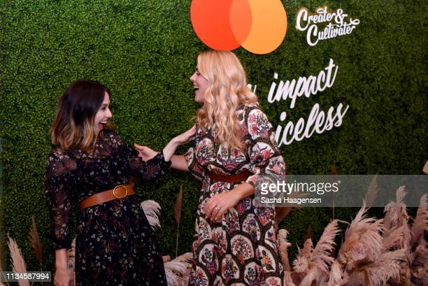 Jaclyn Johnson and Busy Philipps attend Create Cultivate and Mastercard Intimate Dinner at Cafe no se on March 08 2019 in Austin Texas