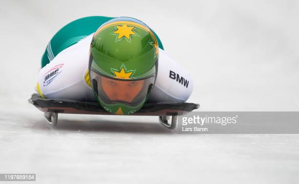 Jaclyn Narracott of Australia competes during the BMW IBSF Skeleton World Cup at Veltins Eis-Arena on January 05, 2020 in Winterberg, Germany.