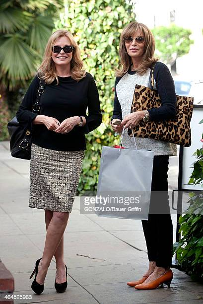 Jaclyn Smith and Cheryl Ladd are seen having lunch at The Ivy on January 22 2014 in Los Angeles California