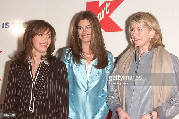 Jaclyn Smith Kathy Ireland and Martha Stewart at Kmart to celebrate the return of the 'Bluelight Special' at the Astor Place Kmart in New York City...