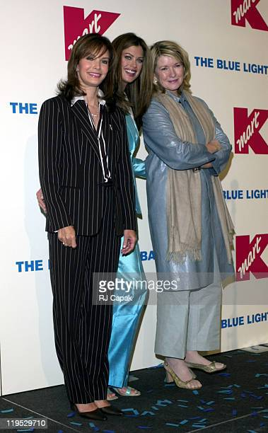 Jaclyn Smith Kathy Ireland and Martha Stewart during Retail Giant Kmart relaunches it's BlueLight Special at Astor Place Kmart in New York City New...