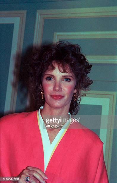 Jaclyn Smith wearing pink circa 1990 New York