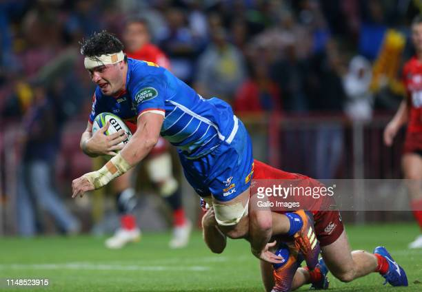 Jaco Coetzee of the Stormers during the Super Rugby match between DHL Stormers and Sunwolves at DHL Newlands on June 08 2019 in Cape Town South Africa