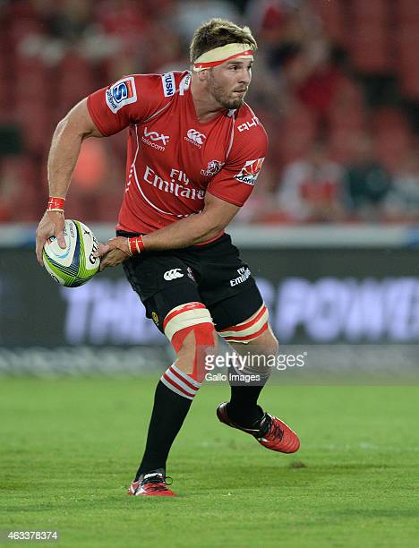 Jaco Kriel of the Lions during the Super Rugby match between Emirates Lions and Hurricanes at Emirates Airline Park on February 13 2015 in...
