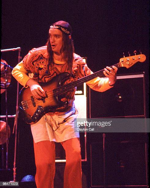 Jaco Pastorius performing with Weather Report at the Berkeley Community Theater on November 26, 1978. He plays a Fender Jazz bass guitar.