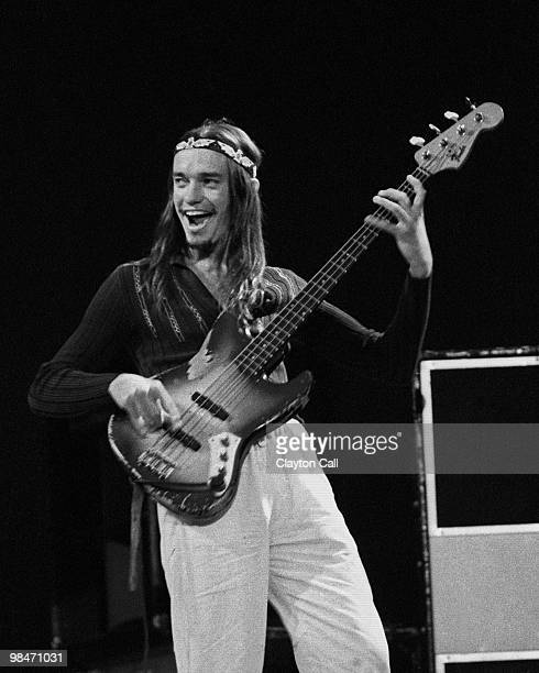 Jaco Pastorius performing with Weather Report at the Greek Theater in Berkeley, California on May 26, 1979. He plays a Fender Jazz Bass guitar.