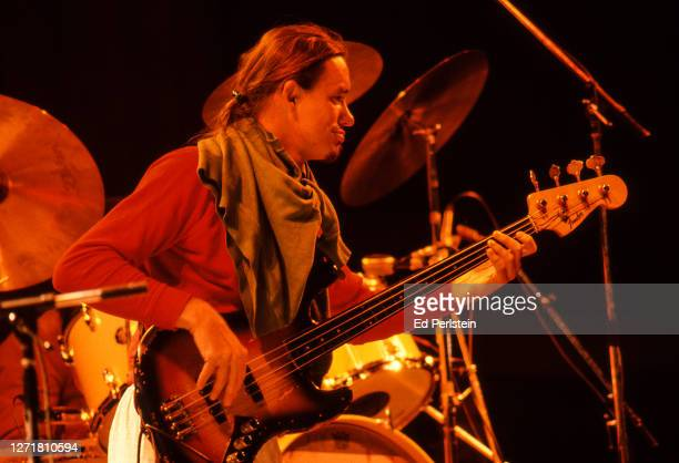 Jaco Pastorius performs with Weather Report during the Berkeley Jazz Festival at the Greek Theatre in Berkeley, California on May 26, 1979.