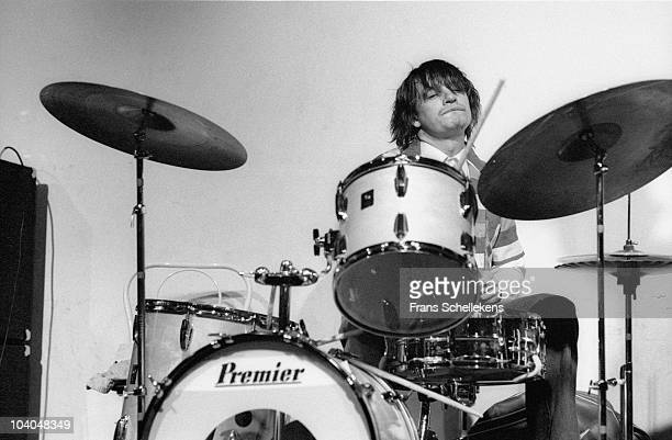 Jaco Pastorius plays drums at Telonious on February 17 1985 in Rotterdam, Netherlands.