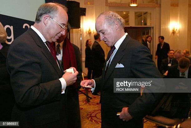 Jacob A Frenkel President Merrill Lynch International United Kingdom and Henry R Kravis Founding Partner Kohlberg Kravis Roberts amp Co USA exchange...