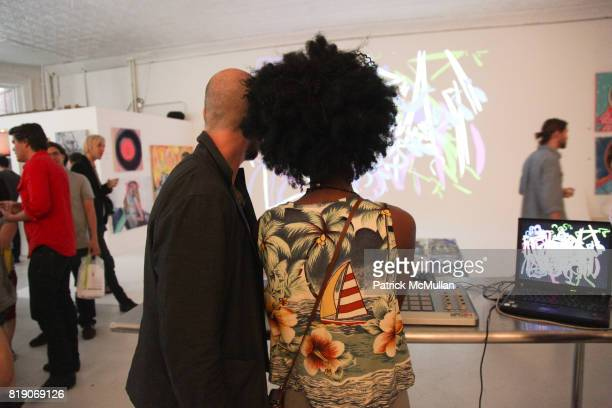 Jacob Abramson and Suzette Guy attend PYT Pretty Young Thing cocurated by Anne Huntington Diana Campbell at 833 Broadway on May 22 2010 in New York...