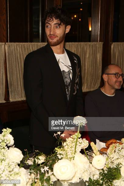 Jacob Abrian and Gianluca Longo attend a breakfast when the Arab Fashion Council announces strategic partnership with the British Fashion Council on...