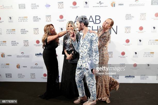 Jacob Abrian Jessica Garnetti and Guests attend the Arab Fashion Week Ready Couture Resort 2018 Gala Dinner on May 202017 at Armani Hotel in Dubai...