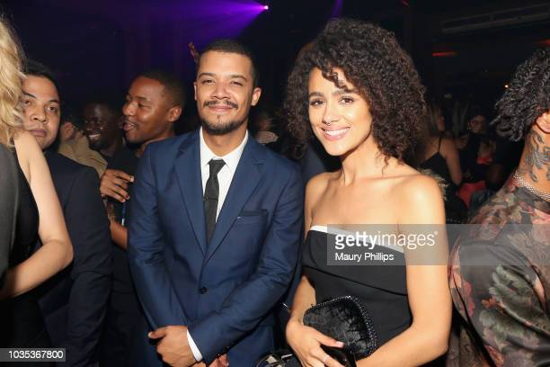 Jacob Anderson and Nathalie Emmanuel attend Celebrating the Culture Powered by Samsung Galaxy at Avenue on September 17 2018 in Los Angeles California