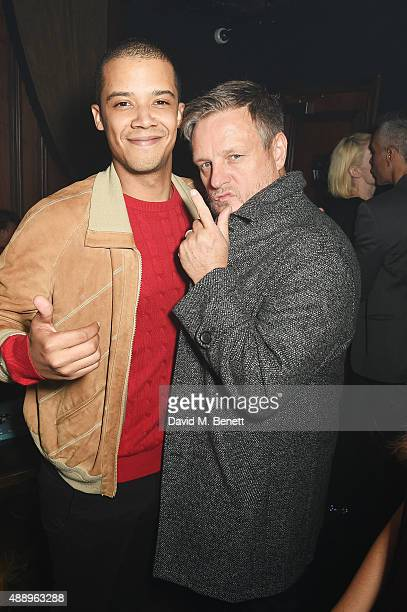 Jacob Anderson and Rankin attend the Hunger Magazine Issue 9 Launch Party with Crystal Head Vodka during at the Tape London Members Club London...