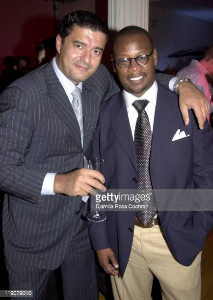 Jacob Arabo and Andre Harrell during Sean 'P Diddy' Combs Runs the City PreMarathon Dinner at Metropolitan Pavilion in New York City New York United...