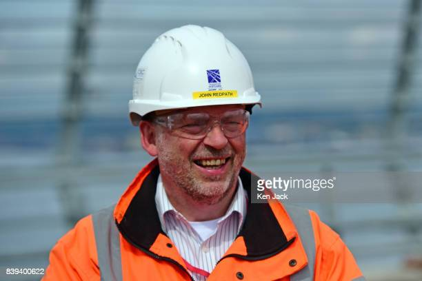 Jacob Arup Joint Venture Senior Site Engineer John Redpath on the new Queensferry Crossing Road Bridge over the Forth Estuary on August 23 2017 in...