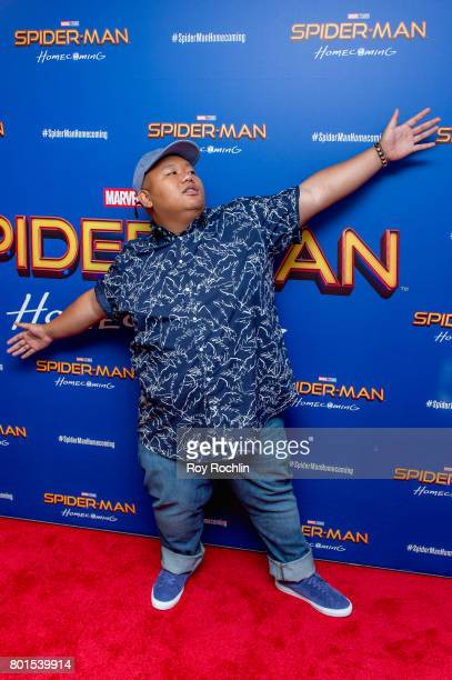 Jacob Batalon attends Spiderman Homecoming New York First Responders' screening at Henry R Luce Auditorium at Brookfield Place on June 26 2017 in New...