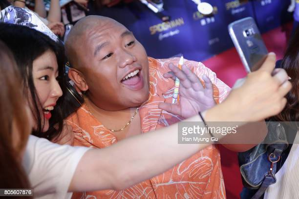 Jacob Batalon attends the 'SpiderMan Homecoming' Seoul Premiere at Yeongdeunpo Times Square on July 2 2017 in Seoul South Korea