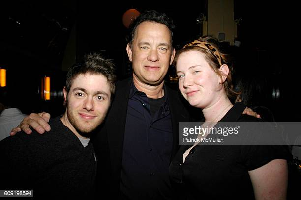 Jacob Bernstein Tom Hanks and Elizabeth Hanks attend Dinner Party for the Tastemaker Screening of STARTER FOR 10 at Odeon on February 13 2007 in New...
