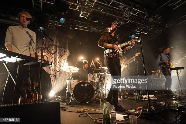 Jacob Berry, David Kelly, Dan Croll and Jethro Fox perform on stage at The Liquid Room on October 17, 2014 in Edinburgh, United Kingdom.