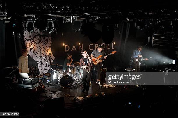 Jacob Berry, David Kelly, Dan Croll, John Stark and Jethro Fox perform on stage at The Liquid Room on October 17, 2014 in Edinburgh, United Kingdom.