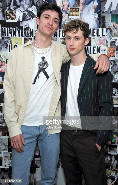 Jacob Bixenman and Troye Sivan attends Gucci's celebration of the Release of Paige Powell In LA on May 16 2019 in Beverly Hills California