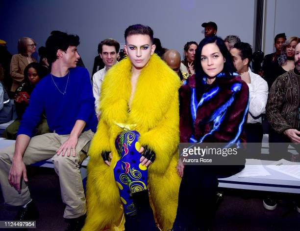 Jacob Bixenman Aquaria and Leigh Lezark attend the Christian Cowan Runway Show at Spring Studios on February 12 2019 in New York City