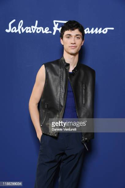 Jacob Bixenman attends the Salvatore Ferragamo show during Pitti Immagine Uomo 96 on June 11 2019 in Florence Italy