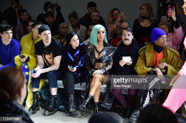 Jacob Bixenman Giovanni Palandrani Leigh Lezark and Nikita Dragun attend attends the Christian Cowan front row during New York Fashion Week The Shows...