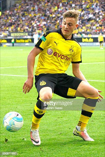 Jacob Bruun Larsen of Dortmund during the German U19 Championship Semi Final First Leg match between Borussia Dortmund and 1860 Muenchen at Signal...