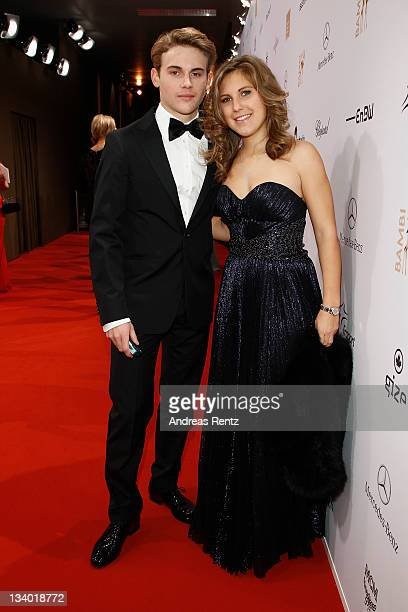 Jacob Burda and Elisabeth Burda attend the Bambi Award 2011 aftershow party at the RheinMainHallen on November 10 2011 in Wiesbaden Germany