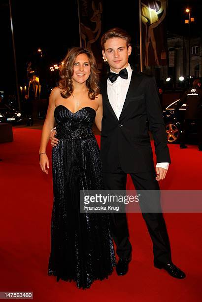 Jacob Burda and girlfriend attend the Red Carpet for the Bambi Award 2011 ceremony at the RheinMainHallen on November 10 2011 in Wiesbaden Germany