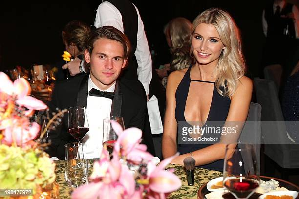 Jacob Burda and Lena Gercke during the Bambi Awards 2015 after show party at Stage Theater on November 12 2015 in Berlin Germany