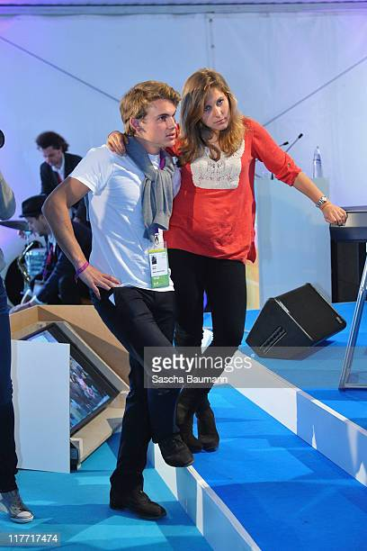 Jacob Burda and sister Elisabeth attend the Digital Life Design women conference at Bavarian National Museum on June 30 2011 in Munich Germany The...