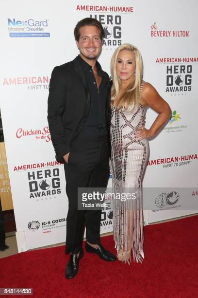 Jacob Busch and Adrienne Maloof at the 7th Annual American Humane Association Hero Dog Awards at The Beverly Hilton Hotel on September 16 2017 in...