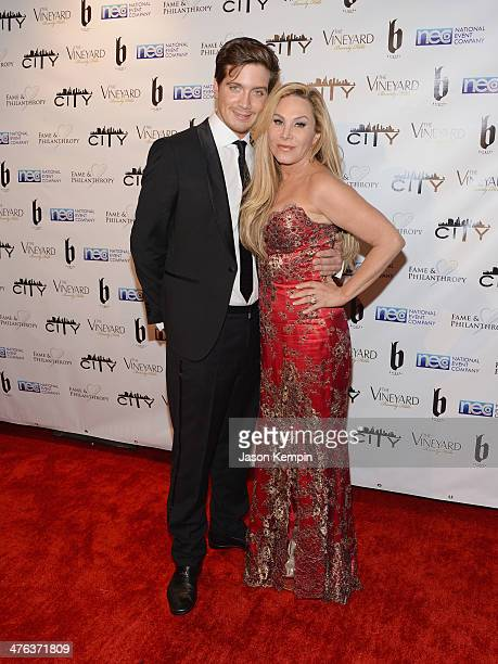Jacob Busch and Adrienne Maloof attend the Fame and Philanthropy PostOscar Party at The Vineyard on March 2 2014 in Beverly Hills California